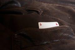 Ace kardieren in der Tasche Lizenzfreies Stockfoto