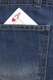 Ace kardieren. Jeans Stockfoto