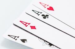 Ace-Karten Lizenzfreie Stockbilder