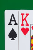 Ace and King Stock Photo