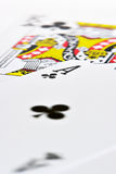 Ace King. Macro shoot of Ace Kind suited Stock Photography