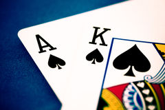 Ace and king Stock Photos