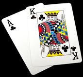 Ace king, clubs Stock Photography