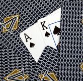 Ace King Hole Cards Royalty Free Stock Photos