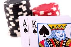 Ace King spades Royalty Free Stock Photos