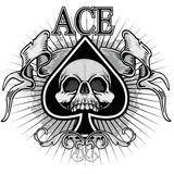 Ace Of Spades With Skull Stock Photo