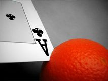 Ace in orange Royalty Free Stock Image