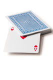 Ace and the playing cards Stock Images