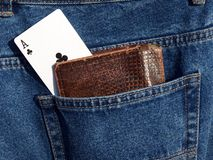 Ace in pocket Stock Image