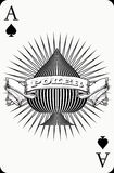 Ace poker card. Unique Ace of spade poker card Royalty Free Stock Photo