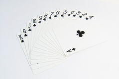 Ace-Pokerkartensatz Lizenzfreies Stockfoto