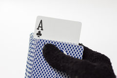 Ace pop out of deck Royalty Free Stock Photography