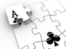 Ace puzzle Stock Images