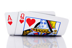 Ace and Queen Royalty Free Stock Photo