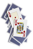 Ace, rey Fotos de archivo libres de regalías