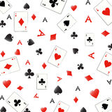 Ace seamless pattern. Seamless pattern with playing cards symbols, seamless background An additional Vector .Eps file available. ( you can use elements royalty free illustration