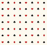 Ace seamless pattern Stock Images
