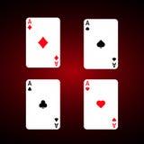 Ace set vector . Diamonds Royalty Free Stock Image