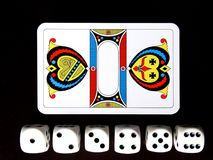 Ace, Shield, Cube, Cards Royalty Free Stock Images