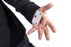 Ace in the sleeve Royalty Free Stock Photos