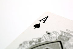 Ace of Spade. Poker Card Series - Ace of Spade stock photo
