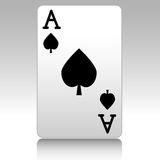 Ace of spades Royalty Free Stock Photos