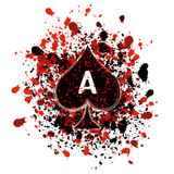 Ace of spades. Grunge illustration of ace of spades royalty free illustration
