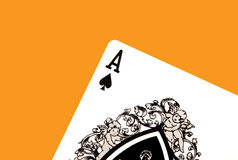 Ace of Spades. Casino Card - Ace of Spades Stock Photo
