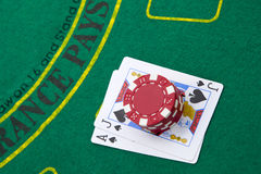 Ace of spades and black jack Royalty Free Stock Photography