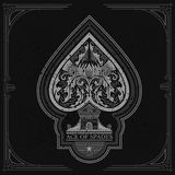 Ace of spades castle and thistle pattern inside. White on black Stock Photos