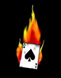 Ace of Spades on Fire! Vector / Clip Art. A vector image of the Ace of Spades on fire. Eps 8 Stock Images