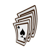 Ace spades magician show playing Royalty Free Stock Images