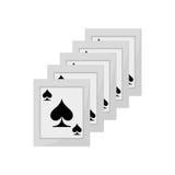 Ace spades magician show Royalty Free Stock Photos