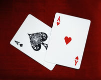 Ace of spades. Playing card Royalty Free Stock Photos