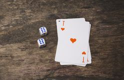 Ace of spades playing card top view Royalty Free Stock Photo