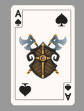 Ace of Spades playing card Royalty Free Stock Images