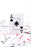 An ace of spades stock image