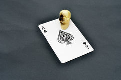 Ace of spades with Skull Royalty Free Stock Images