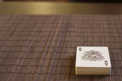 Ace of Spades. On the table Stock Images