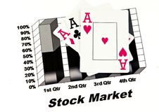 Ace stock market Royalty Free Stock Images