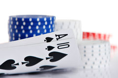 Ace and Ten. Of spade Stock Images