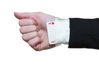 Ace Up The Sleeve Stock Photos