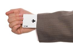 Ace up your sleeve Stock Photos
