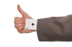 Ace up your sleeve Royalty Free Stock Image