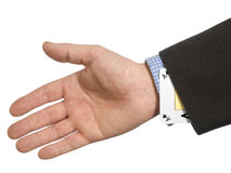 Ace up your sleeve Stock Image