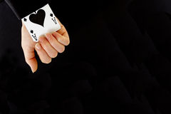 An ace up your sleeve Stock Image