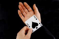 An ace up your sleeve Stock Images
