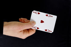 An ace up your sleeve Royalty Free Stock Images