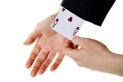 An ace up your sleeve Royalty Free Stock Image