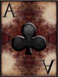 Ace van Clubs royalty-vrije illustratie